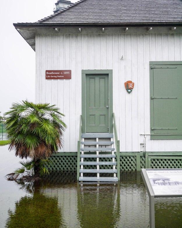 Hurricane Joaquin Sullivan's Island Flooding Boathouse Water