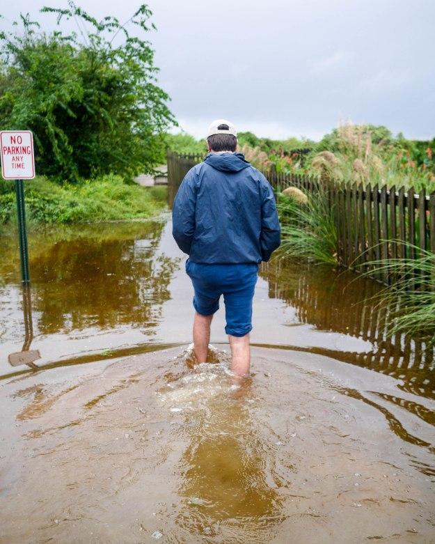 Hurricane Joaquin Sullivan's Island Flooding Ion Station 19 Beach Path Water