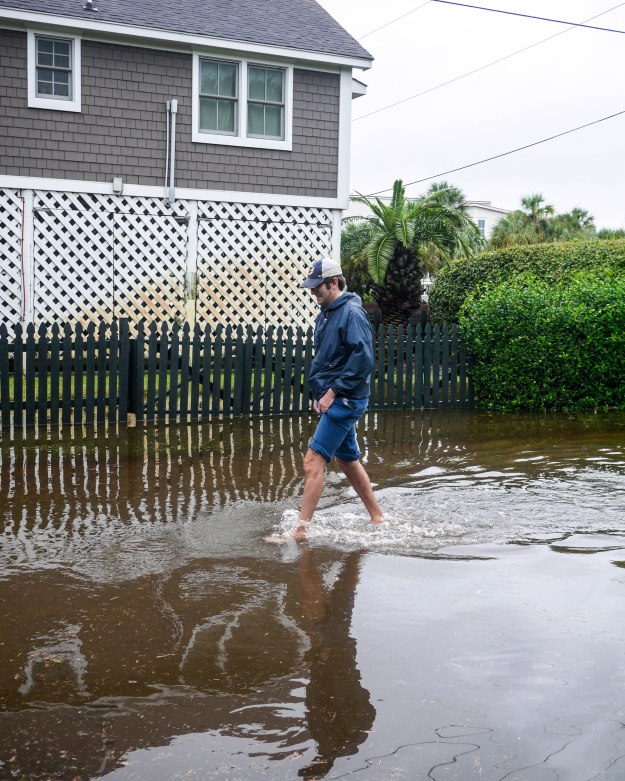 Hurricane Joaquin Sullivan's Island Flooding Ion Station 19 Beach Path