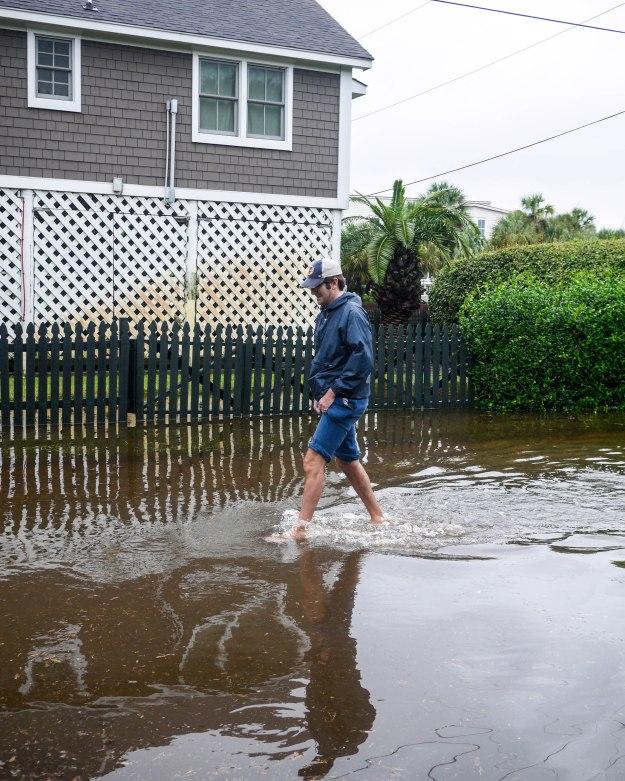 Hurricane Joaquin Sullivan's Island Flooding Ion Station 19 Beach Path