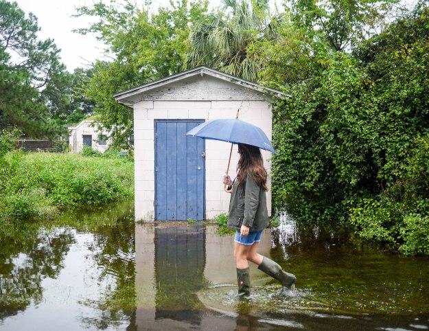 Hurricane Joaquin Sullivan's Island Flooding Ion Walk