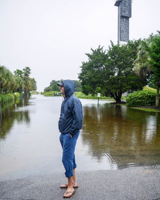 Hurricane Joaquin Sullivan's Island Flooding Lighthouse Water