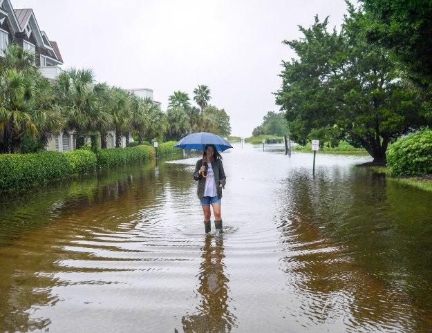 Hurricane Joaquin Sullivan's Island Flooding Walk