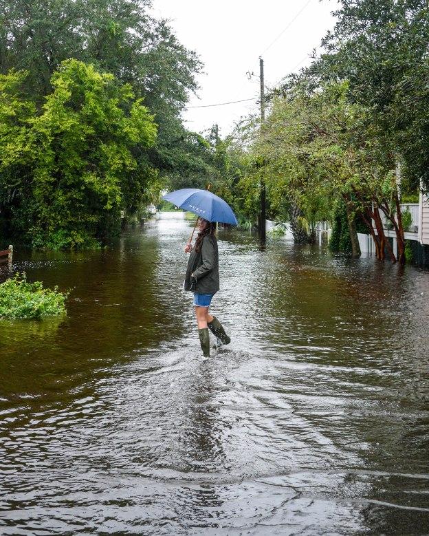 Hurricane Joaquin Sullivan's Island Station 19 Walking