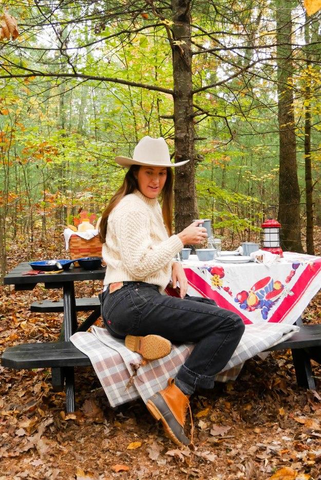 Breakfast Camping Picnic Autumn
