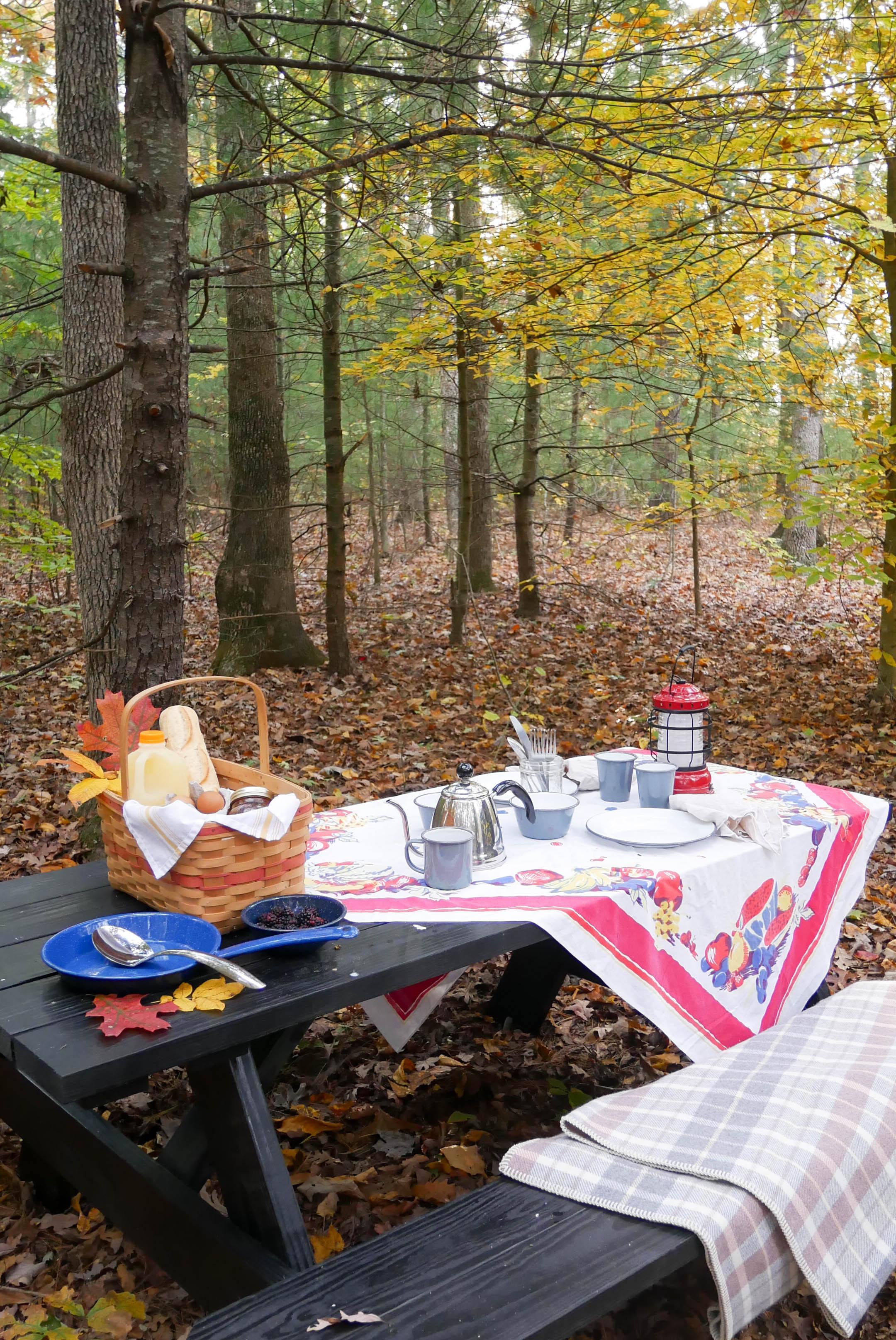 getaway breakfast table