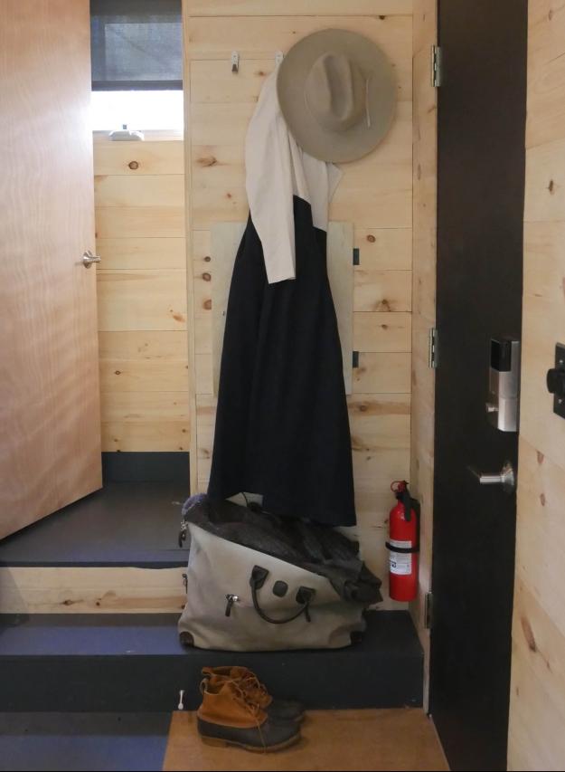 getaway cabin hat rack
