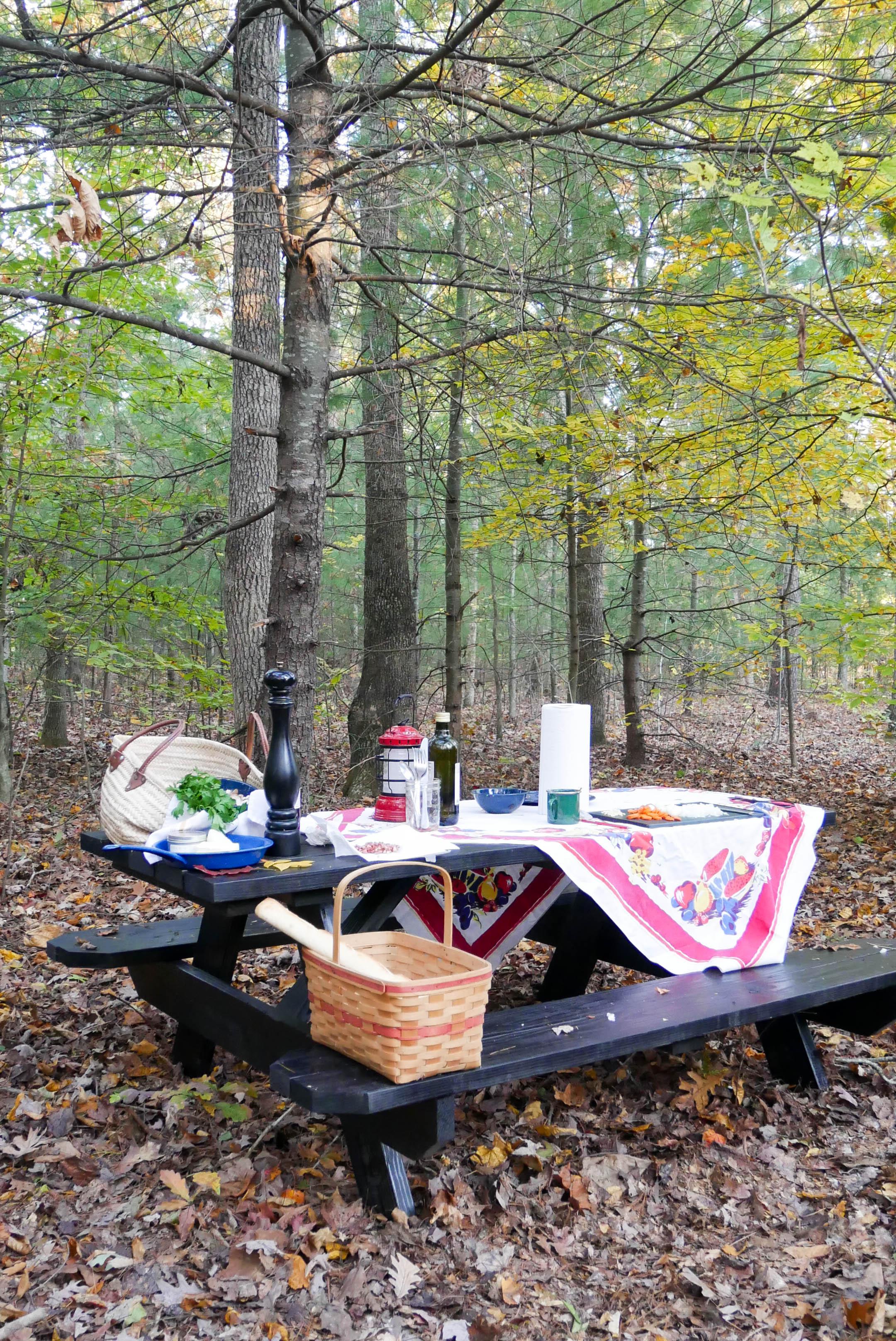 getaway cabin table